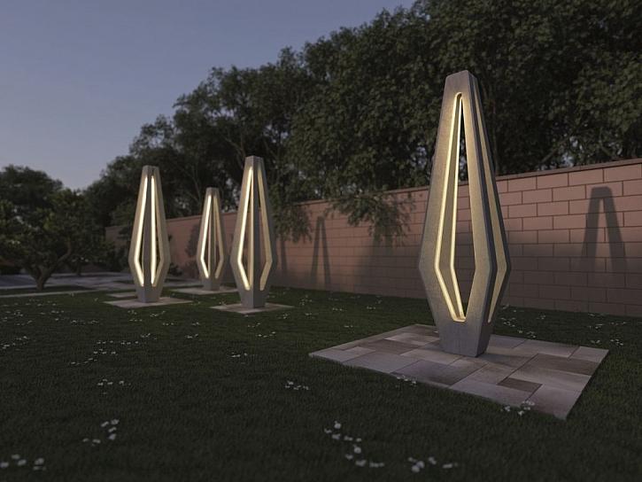Venkovní městské dekorativní svítidlo H-E-X (Zdroj: Presbeton)