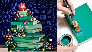 Vánoční stromeček pro knihomoly: Podtrhněte DIY dekoracemi sváteční atmosféru