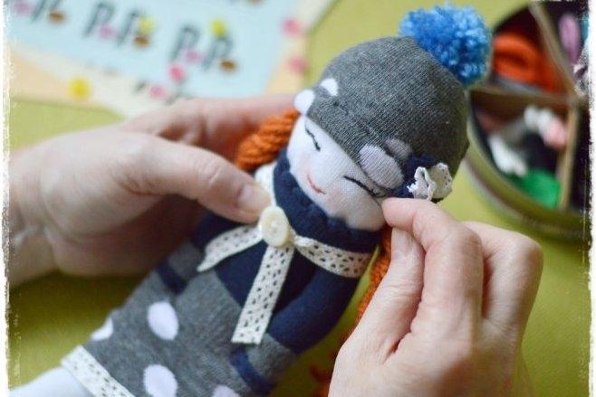 Panenky z ponožek aneb Jak využít liché kousky 7