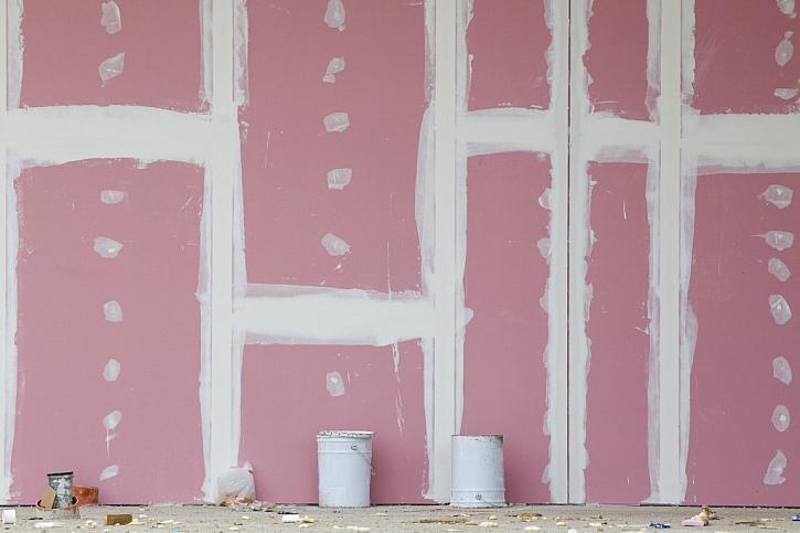 Růžové desky mají vysokou protipožární odolnost.