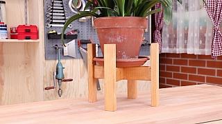 Vyrobte si dřevěný stojan na květiny