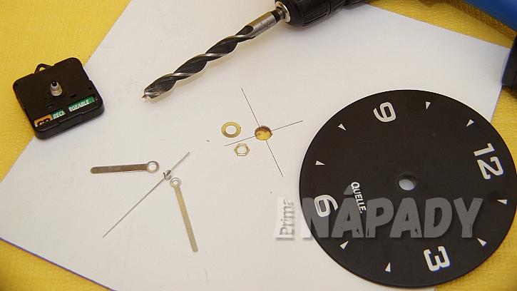 Skříňka na klíče s hodinami: vyvrtáme otvor pro hodinový strojek