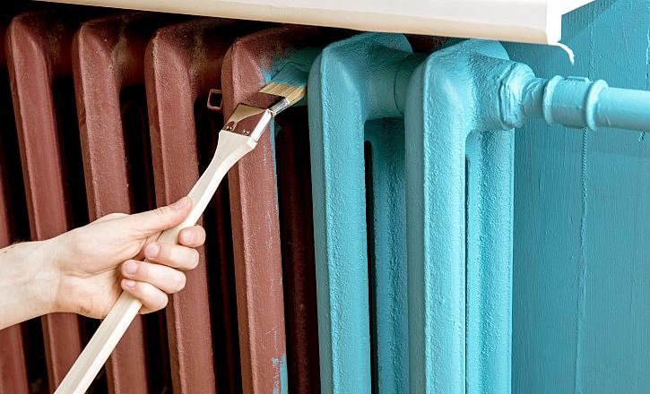 Nátěr radiátoru