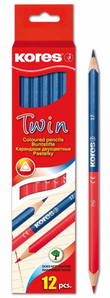 Dva v jednom – dvojbarevná učitelská tužka Kores Twin