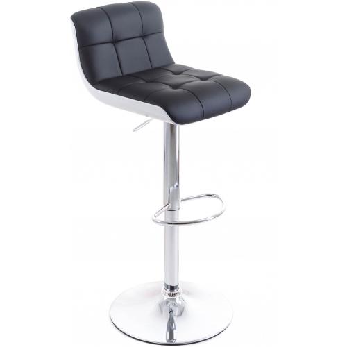 G21 Barová židle Treama koženková černá/bílá