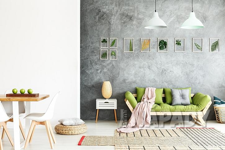 K malování vzorů na zeď můžeme využít nejrůznější techniky, pomůcky i materiály (Zdroj: Depositphotos.com)