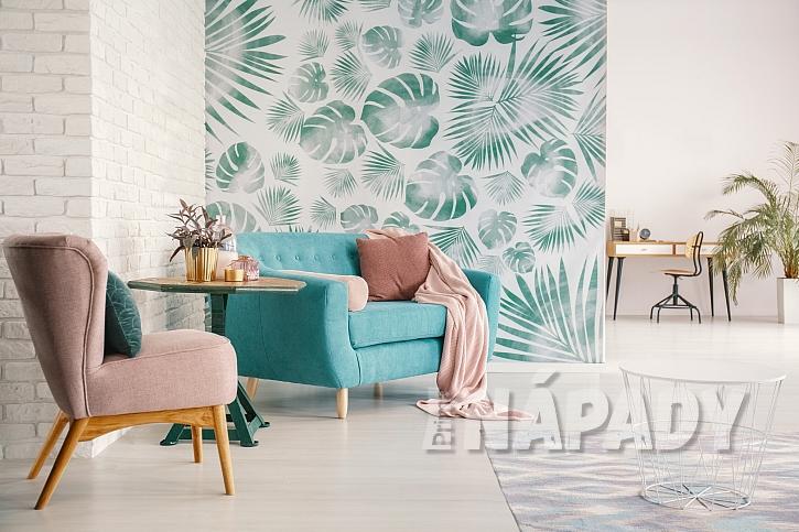Tapety s výrazným vzorem je dobré umístit jen na jednu zeď  (Zdroj: Depositphotos.com)