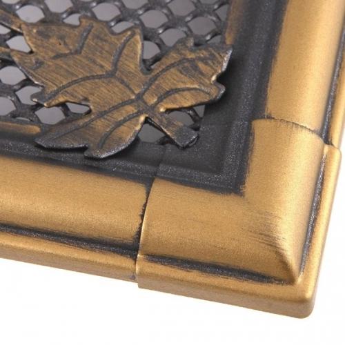Krbová mřížka 16x16cm RETRO zlatá patina