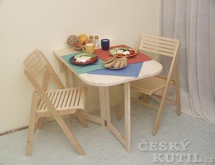 Praktický sklopný stolek do malého bytu