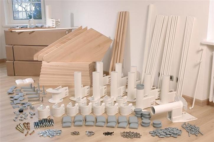 Výhody stavebnicového schodiště
