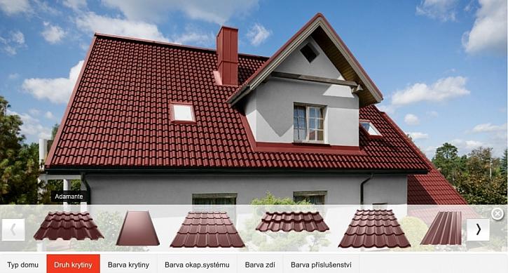 Barevné kombinace střech a fasád bez překvapení