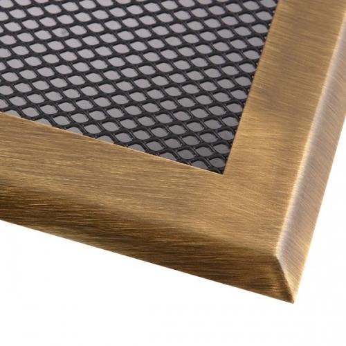 Krbová mřížka 16x45cm mosaz patina