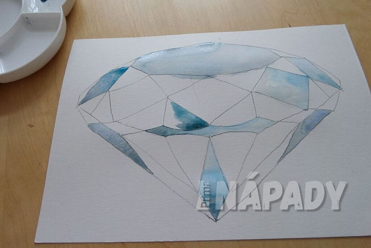 Jak vykouzlit diamant na papír: Namalujte si diamant akvarelem! 5