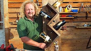 Jak si vlastnoručně vyrobit stylový stojánek na víno patinovaný opálením