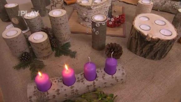 Svícny z větví a kmínků