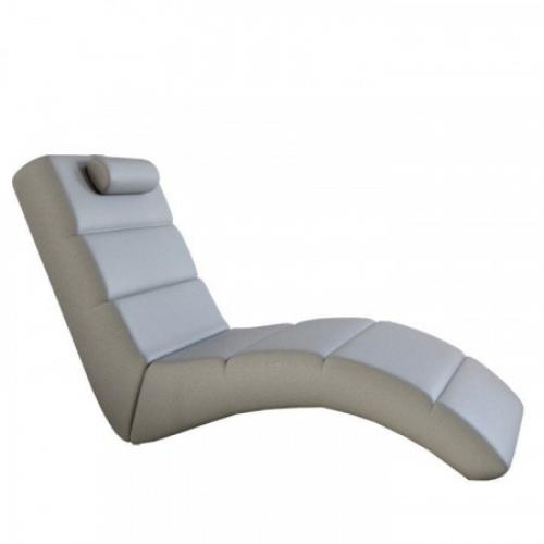 Relaxační křeslo, ekokůže šedá, LONG, Tempo Kondela