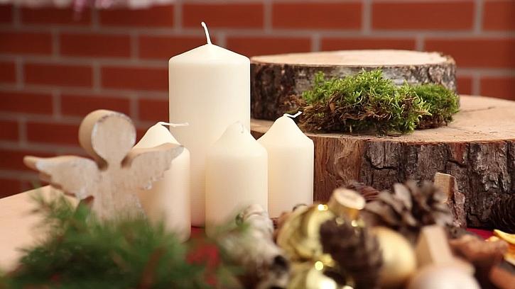 Přírodní prvky a svíčky