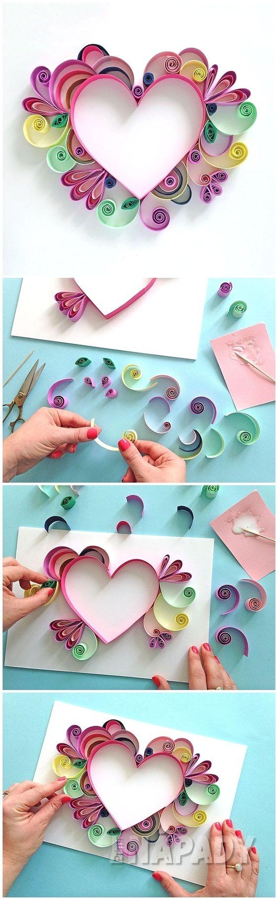 Jak vyrobit dárek pro maminku z proužků papíru 5