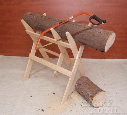 Kozy (podpěry) na řezání dřeva (Zdroj: PePa)