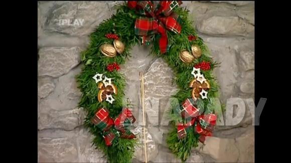 Vánoční věnec - domovní znamení