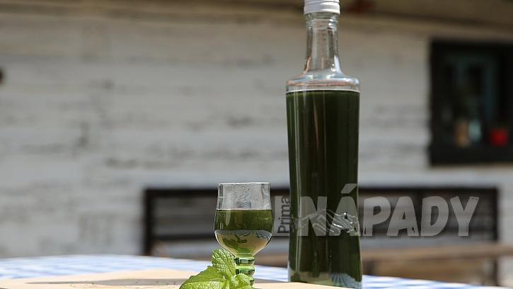 Domácí mátový likér: přidáme zelené potravinářské barvivo