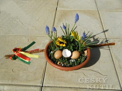 Velikonoční mísa s osením