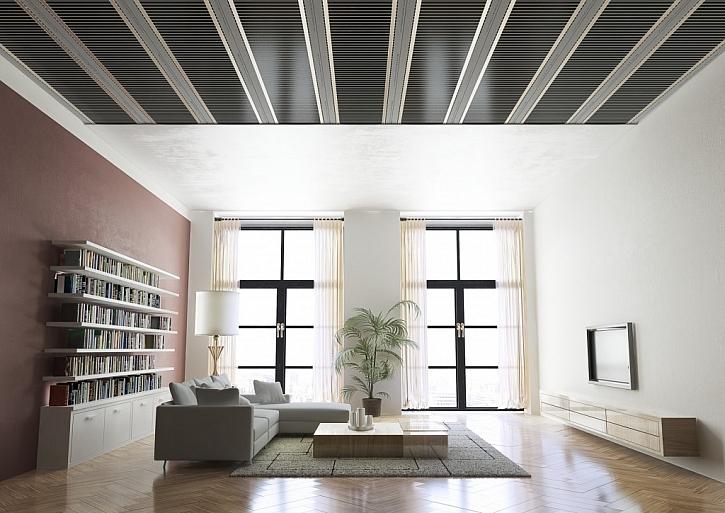 Systém stropního vytápění s foliemi ECOFILM C (Fenix Jeseník) má všechny výhody elektrických velkoplošných topných systému – nízké pořizovací a provozní náklady, maximální tepelný komfort a dlouhou životnost.