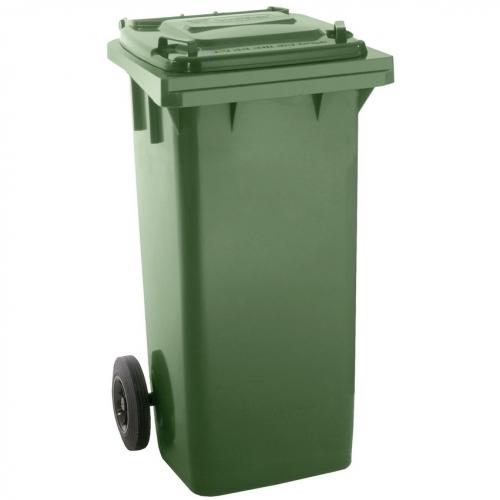 PROTECO popelnice 120 L  plastová zelená s kolečky