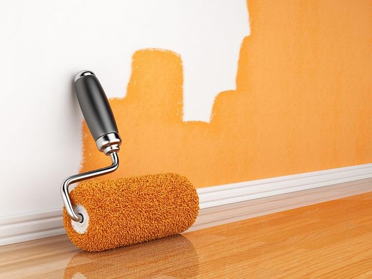 Zdi, vymalované barvou, působí daleko útulněji než neosobní bílá
