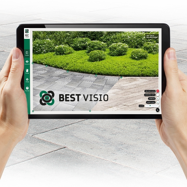 Aplikace BEST VISIO ztvárněná na tabletu