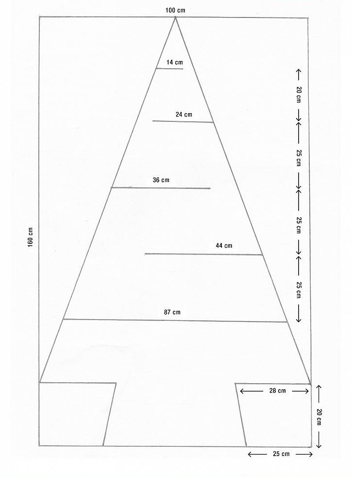 Adventní stromek šablona