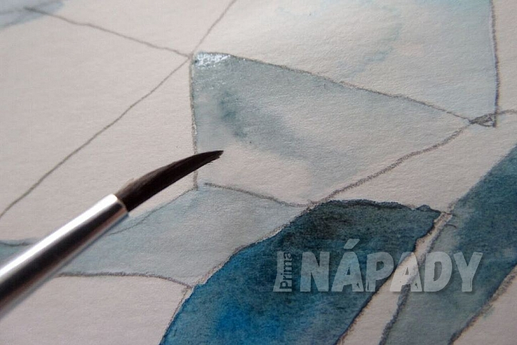 Jak vykouzlit diamant na papír: Namalujte si diamant akvarelem! 6
