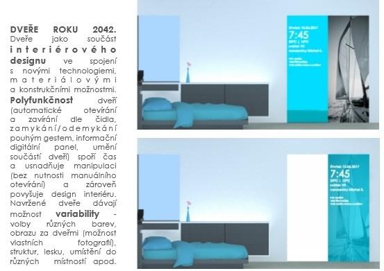 """Vítěze soutěže SAPELI """"Dveře roku 2042"""""""