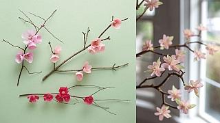 Květy z krepového papíru. Budou se vám líbit, pokud už toužíte po jaru