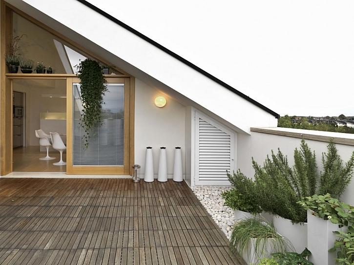 Dřevěná podlaha terasy