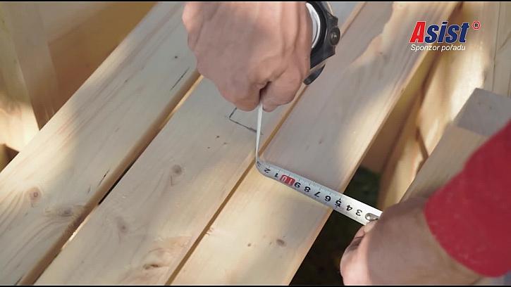 Měření šířky desky
