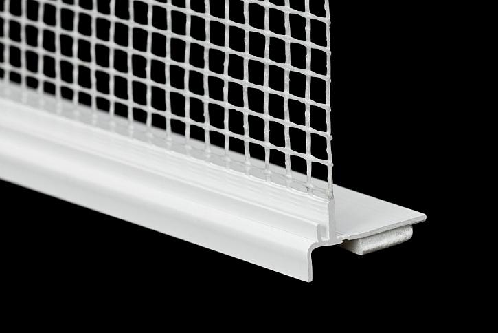 Profil HPI - UNI je tvořen plastovou lištou odolnou proti praskání a deformacím s integrovanou tkaninou a polyetylenovou oboustranně lepicí páskou.