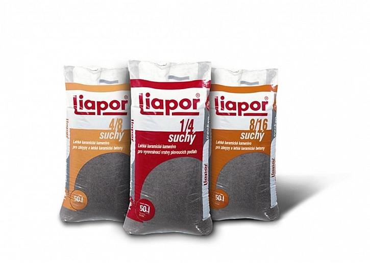 Podsyp Liapor je dodáván v různých velikostech.