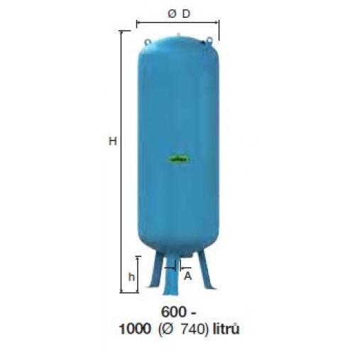 Refix expanzní nádoba DE/1000/16 modrá