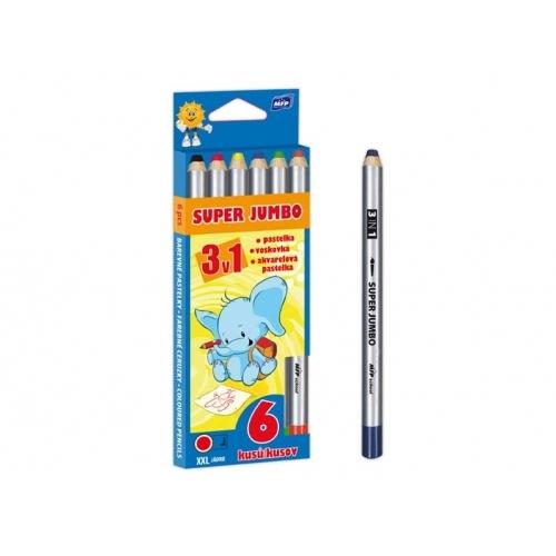 MFP pastelky  6 Super Jumbo 3v1