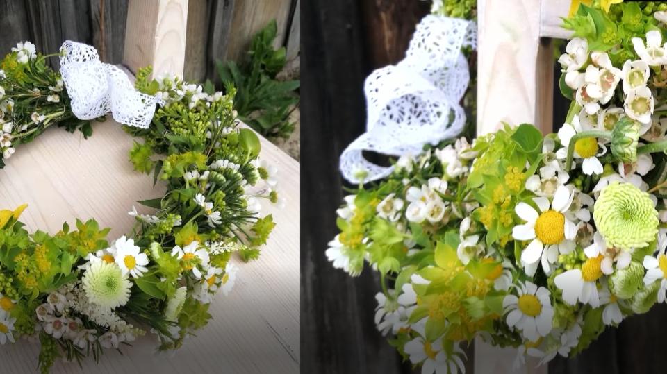 Čelenka do vlasů z živých květin
