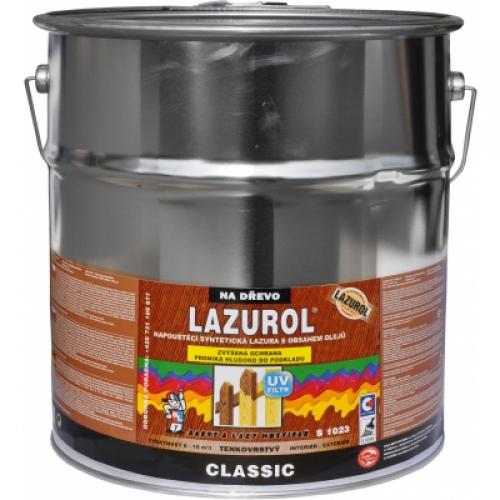 Lazurol Classic S1023 tenkovrstvá lazura na dřevo s obsahem olejů, 022 palisandr, 9 l