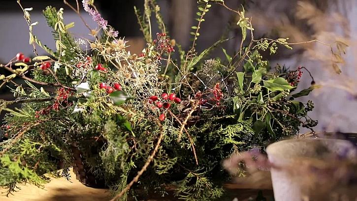 Krásná vánoční dekorace do truhlíků