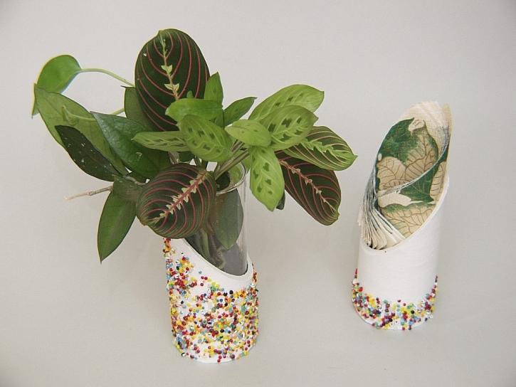 Výroba vázy z tubusu od koberce