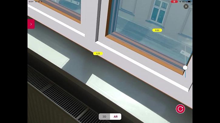 VEKRA aplikace - konfigurátor okna 2