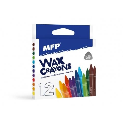 MFP voskovky 12 barev - trojhranné