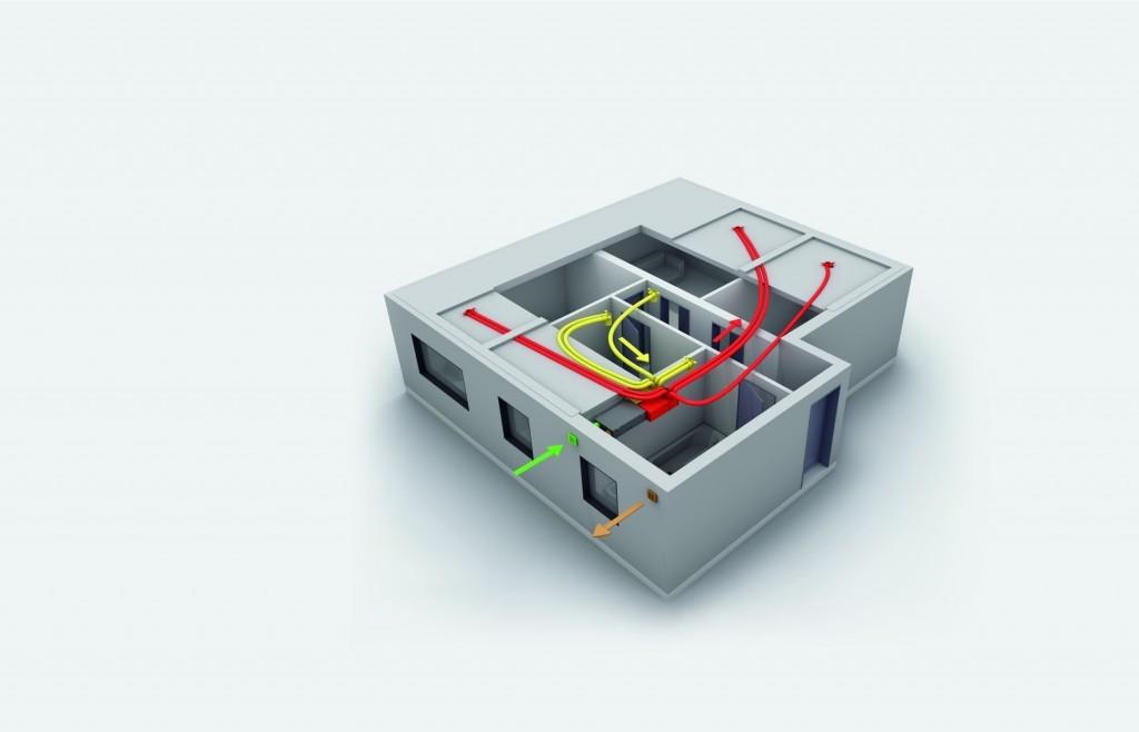 3. Praktický příklad větrání s rekuperací – nový byt v developerském projektu