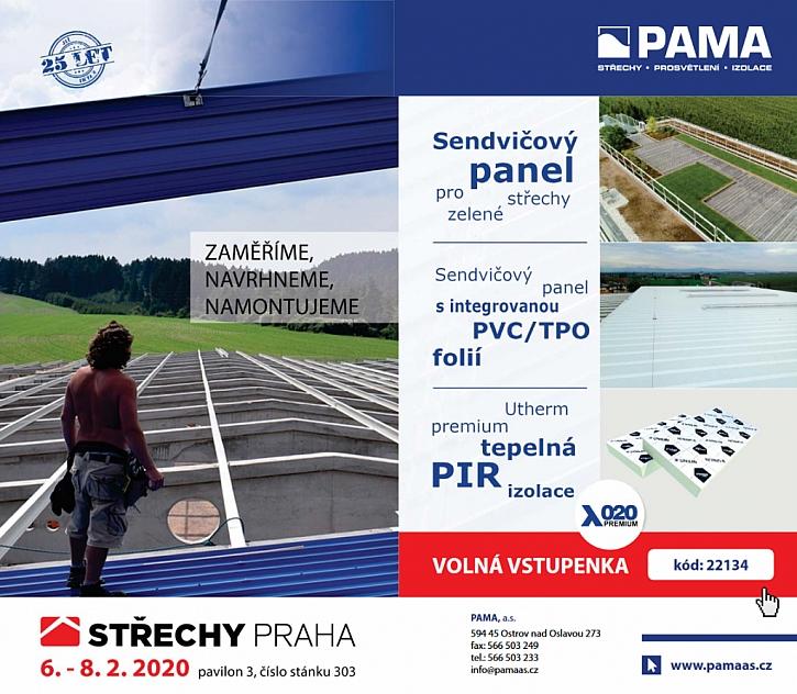 PAMA zve na veletrh Střechy Praha 2020