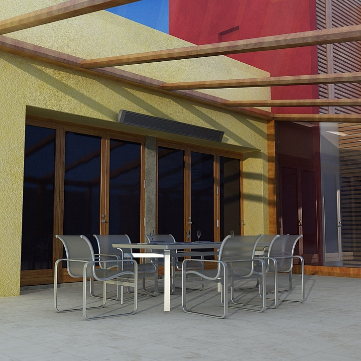 I na podzim vám teplo na terase zajistí venkovní elektrické sálavé panely ECOSUN