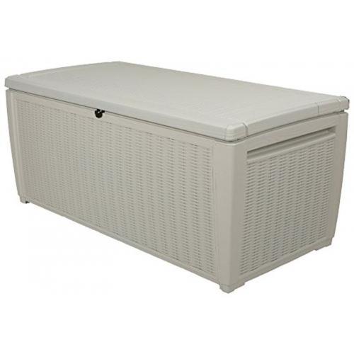 KETER STORAGE BOX 511 zahradní úložný box ratan 511l, bílá